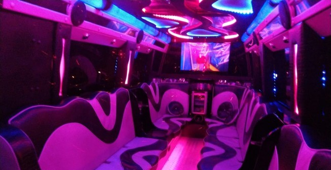 Limo Party Bus in Adforton